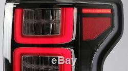 Customized CLEAR Tail Lights with RED Sequential Turn Signal for 15-20 Ford F-150