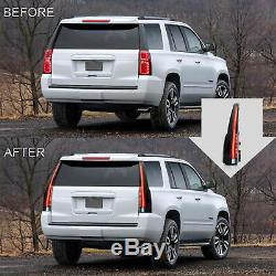 Customized Escalade Style SMOKED LED TailLights Assembly For 15-20 GMC Yukon /XL