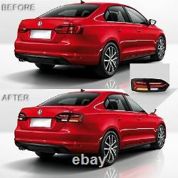 Customized LED Headlights withDUAL BEAM+SMOKED Taillights for 2011-2014 VW JETTA
