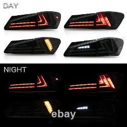 Customized SMOKED LED Tail Lights for 06-13 Lexus IS 250/350 Sedan 08-14 IS F