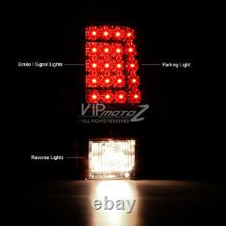 DARK CHERRY RED 2000-2006 GMC Yukon XL Tahoe Suburban C-Shape LED Tail Lights