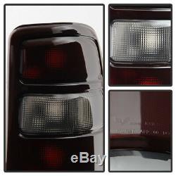 DARK RED 2000-2006 Tahoe Yukon Suburban Rear Brake Tail Lights Lamps Assembly