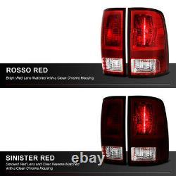 DARK Red Smoke Replacement Brake Signal Tail Light For 09-18 Dodge Ram Pickup