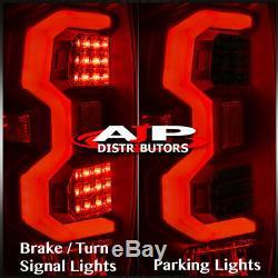 Dark Black Smoke LED Tail Lights Brake Lamps Pair For 2014-2020 Toyota Tundra