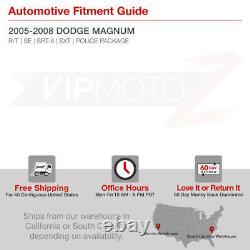 Dodge MAGNUM 2005-2008 VIVID LED Smoke Chrome Tail Lights Lamps Rear Brake Pair