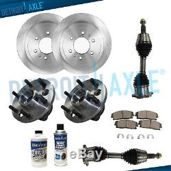 FRONT Brake Rotors + Pads + Wheel Bearings + Axles 1992-1994 Chevy GMC K1500