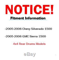 FRONT Brake Rotors + Pads + Wheel Bearings + Axles 2005-06 Silverado Sierra 1500