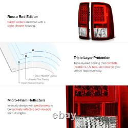 Factory RED For 09-18 Dodge RAM 1500 2500 3500 NEON TUBE LED Tail Lights SET