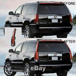 Fiber Optic Custom CLEAR LED Taillights For 07-14 Cadillac Escalade/Escalade ESV