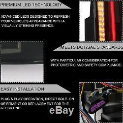 Fiber Optic Escalade Style SMOKE LED Taillights For 07-14 Yukon Suburban Tahoe
