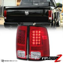 Fit 13-18 Dodge Ram 1500 2500 3500 Truck Red LED Tail Light Brake Signal Lamp