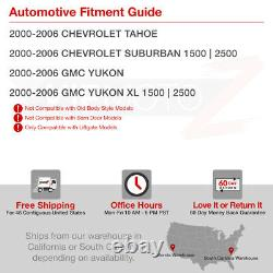 For 00-06 Chevy Suburban Red Lens Chrome LED Rear Signal Tail Light Brake Lamp