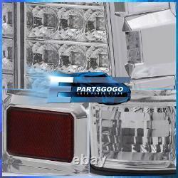 For 00-06 GMC Yukon Denali Chrome LED Brake Tail Lights Lamps Assembly Clear