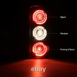 For 00-06 GMC Yukon XL Chevy Suburban BARN DOOR Black Red Tail Lights LEFT+RIGHT