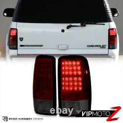 For 00-06 Suburban Yukon XL Denali Tahoe LED Red Smoke Tail Light Lamp Rear L+R