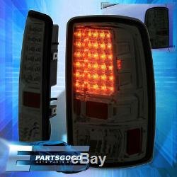 For 00-06 Yukon Replacement LED Brake Tail Lights Lamps Assembly L+R Pair Smoke