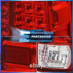 For 00-06 Yukon Replacement LED Brake Tail Lights Lamps Assembly Lh Rh Pair Red