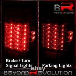For 01-11 Ford Ranger LED Tail Lights Lamp Housing Smoke Red Lens Pairs Assembly