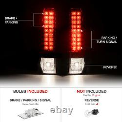 For 02-06 Chevy Avalanche LED Smoke Lens Tail Light Rear Brake Signal Lamp L+R