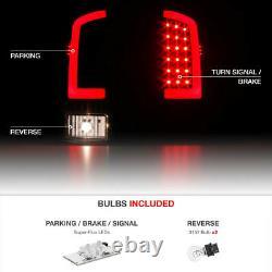 For 02-06 Dodge RAM 1500 2500 3500 Black OLED NEON TUBE Tail Lights Lamps Pair