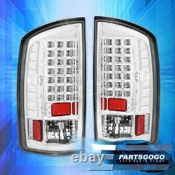 For 02-06 Ram 1500 2500 3500 LED Tail Lights Brake Lamps Left+Right Chrome Clear