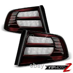 For 04-08 Acura TL Type S Dark Smoke Red Tint Tail Light Brake Lamp Left Right