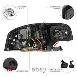 For 05-08 Audi A4 S4 RS4 B7 LED Turn Signal/Brake Lamp Smoke Tinted Tail Light