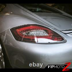 For 05-08 Porsche 987 Boxster Cayman S FiBeR OpTiC Red Smoke LED Tail Lights