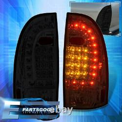For 05-15 Toyota Tacoma Replacement LED Tail Lights Stop Brake Lamps Pair Smoked