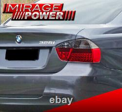 For 06-08 BMW E90 323 325 328 330 4 Door Smoked Red LED Tail Lights 4Piece Set