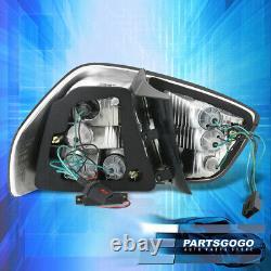 For 06-08 BMW E90 3-Series 4DR Sedan Smoked LED Tail Light Brake Lamp Left+Right