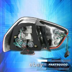 For 06-08 BMW E90 3-Series Sedan Smoke Red LED Tail Light Brake Lamps Left+Right