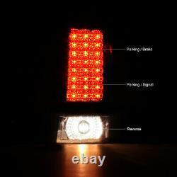 For 07-10 JeeP Grand Cherokee WK SRT8 L+R Smoke LED SMD Tail Lamp Brake Lights