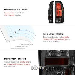 For 07-13 Chevy Avalanche SMOKE LENS LED SMD Tail Light Brake Signal Lamp PAIR