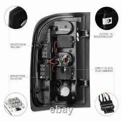 For 07-13 Chevy Silverado Clear Lens LED Bar Brake Signal Lamp Tail Light Black