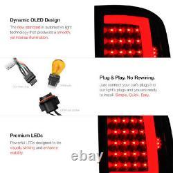 For 07-13 GMC Sierra 1500 2500 3500 SINISTER BLACK Smoke LED Tail Light Lamp