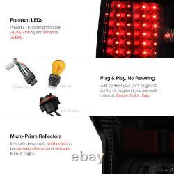 For 07-13 Toyota Tundra TRD STYLE Sinister Black Rear LED Brake Tail Lights