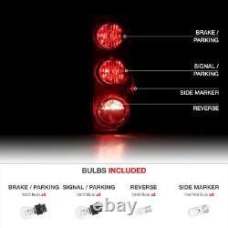 For 07-14 Chevy Suburban Tahoe GMC Yukon XL DARK Red Rear Brake Tail Light SET