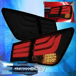 For 08-15 Chevy Cruze Rear Tube Style Brake Stop LED Signal Tail Lights Lamps