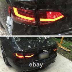 For 09-12 Audi A4 B8 Typ 8K Sedan BURGUNDY RED LED Tube Rear Tail Light Lamp