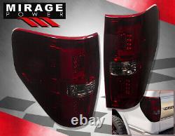 For 09-14 F150 Xl Xlt Stx Fx2 Fx4 Red Smoke LED Tube Style Rear Tail Brake Light