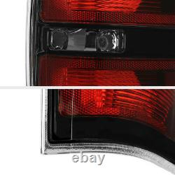 For 09-14 Ford F150 Pickup RAPTOR STYLE Black Tail Light Signal Replacement