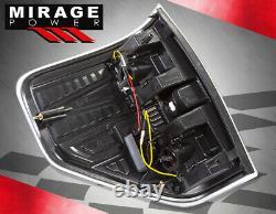 For 09-14 Ford F150 Xl Xlt Stx Fx2 Fx4 Black LED Tube Rear Tail Brake Lights Set