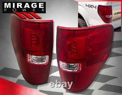 For 09-14 Ford F150 Xl Xlt Stx Fx2 Fx4 LED Tube Style Rear Tail Brake Lights Red