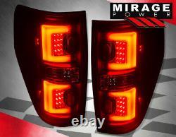 For 09-14 Ford F150 Xlt Stx Fx2 Fx4 Black LED Tube Style Rear Tail Brake Lights