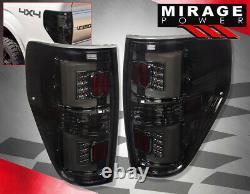 For 09-14 Ford F150 Xlt Stx Fx2 Fx4 Smoke LED Tube Style Rear Tail Brake Lights