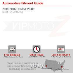 For 09-15 Honda Pilot DEEP WINE RED Complete LEFT RIGHT Smoke Lens Tail Light