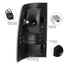 For 09-18 Dodge Ram 1500 2500 3500 BLACK CLEAR LED Tail Light Brake Lamp LED