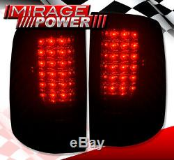 For 09-18 Dodge Ram Direct Replacement LED Brake Tail Lights Lamps Smoked Lens