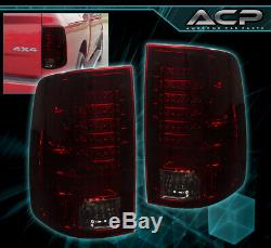 For 09-18 Ram 1500 Replacement LED Style Brake Stop Tail Lights Lamps Set Sm Red